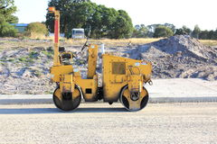 Road rolling machine Royalty Free Stock Photography