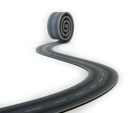 Road rolling out Stock Image