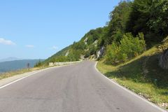 Road in Romania Royalty Free Stock Photo