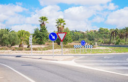 Road and roundabout. Stock Photography