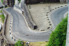 Road rounding in Namur Stock Photo