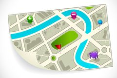 Road Route Map Royalty Free Stock Image