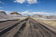 A road on route 66. Natrue park stock photo