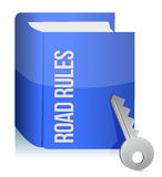 Road rules register with car keys Royalty Free Stock Image