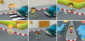 Road rules royalty free illustration