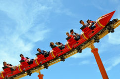 Road Runner Roller Coaster Movie World Gold Coast Australia Royalty Free Stock Images
