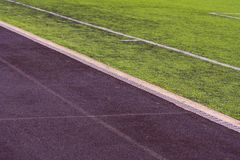 Road for runners in the stadium. Staking on the stadium royalty free stock photography