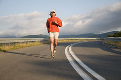 Road running. Royalty Free Stock Photography