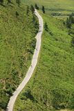 Road running through alpine hills. Royalty Free Stock Photo