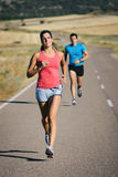 Road running race people Royalty Free Stock Images