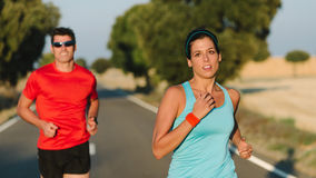 Road running race people Stock Photography