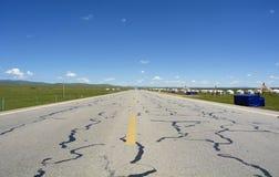 Road of Ruoergai Grassland Stock Photography