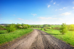 Road in a rural area Royalty Free Stock Images