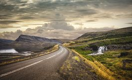 Road through rural landscape of Iceland Royalty Free Stock Photos
