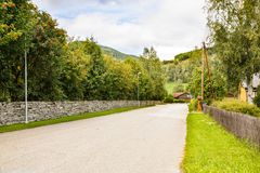 Road in rural place Royalty Free Stock Photos