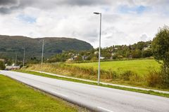 Road in Norway. Road in the rural place in Norway Stock Photos