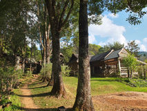 Road in a rural village in northern of Thailand. Royalty Free Stock Photo