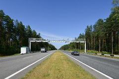Road in Russian forest Royalty Free Stock Photography