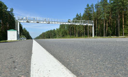 Road in Russian forest Royalty Free Stock Images