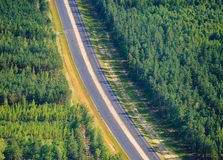 Road in Russian forest Stock Photo