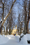 Road in Russian orthodox monastery Stock Image