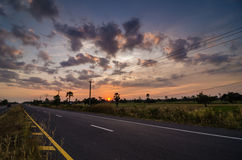 Road in rustic city Stock Image