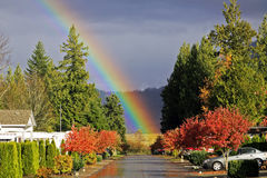 Road's End Rainbow Stock Photography