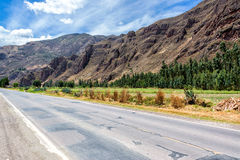 Road and Sacred Valley in Peru Royalty Free Stock Photography