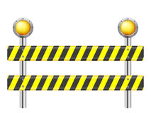 Road safety barrier Stock Images