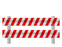 Road safety barrier Royalty Free Stock Photos