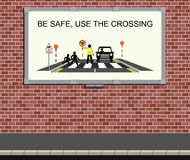 Road safety campaign Stock Photography