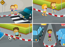 Road safety royalty free illustration