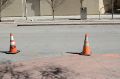 Road safety cones Royalty Free Stock Photography