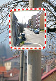 Road safety mirror Stock Images