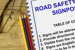 Road safety an signposting Stock Photo