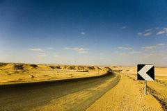 Road, Sahara Royalty Free Stock Images