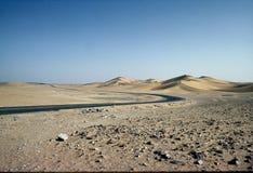 Road in sahara Royalty Free Stock Photo