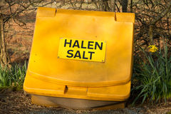 Road salt container. Royalty Free Stock Image