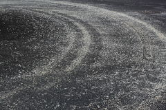 Road Salt for Melting Ice Snow Stock Photos