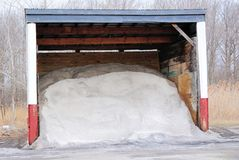 Road Salt Shed Stock Image