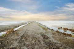 Road through the salt Royalty Free Stock Photography