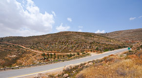 Road in Samaria Stock Image