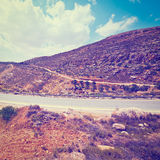 Road in Samaria Royalty Free Stock Image