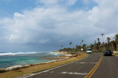 Road in San Andres - Colombia Stock Photography