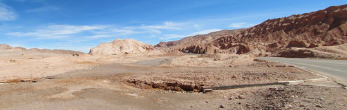 Road in San Pedro de Atacama desert Royalty Free Stock Image