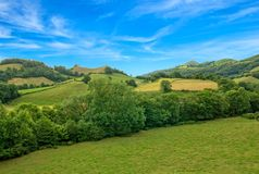The road of Santiago through the Pyrenees. France Royalty Free Stock Photography