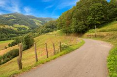 The road of Santiago through the Pyrenees. France Stock Photography