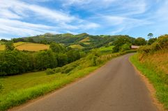 The road of Santiago through the Pyrenees. France Stock Image