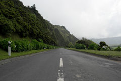 Road, Sao Miguel island, Portugal Royalty Free Stock Images