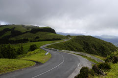 The road among the Sao Miguel's hills, Azores Stock Photography